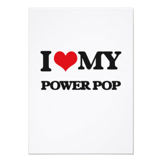 "Amo mi PODER POP Invitación 5"" X 7"""