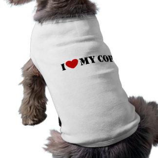 Amo mi poli playera sin mangas para perro