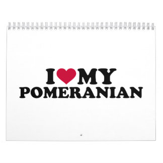 Amo mi Pomeranian Calendario