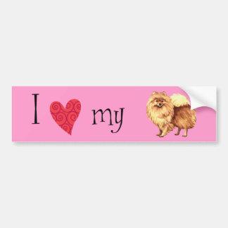 Amo mi Pomeranian Pegatina Para Auto