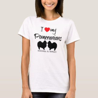Amo mi Pomeranians Playera