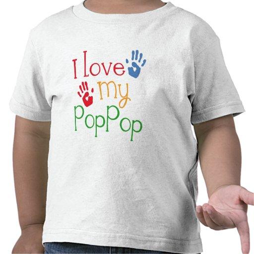 Amo mi PopPop (Handprints) Camisetas