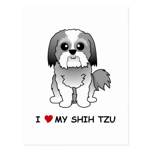 Amo mi postal de Shih Tzu