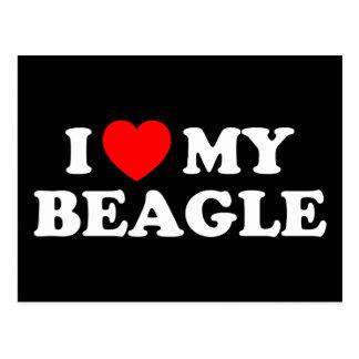 Amo mi postal del beagle