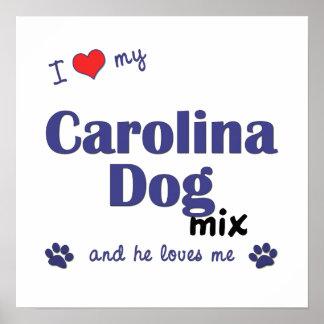 Amo mi poster de la mezcla del perro de Carolina (