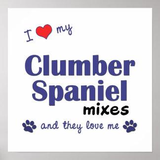 Amo mi poster de las mezclas del perro de aguas de