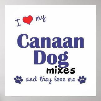 Amo mi poster de las mezclas del perro de Canaan