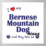 Amo mi poster de las mezclas del perro de montaña