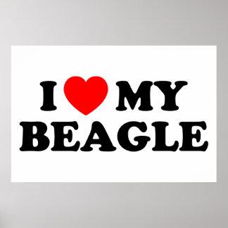 Amo mi poster del beagle póster