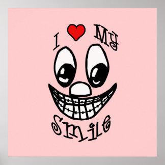 Amo mi poster del personalizable de la sonrisa