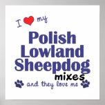 Amo mi poster polaco de las mezclas del perro past