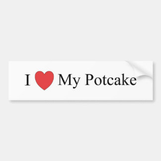 Amo mi Potcake Pegatina Para Auto