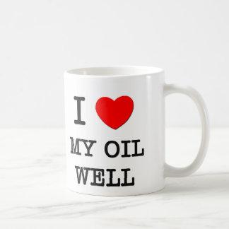 Amo mi pozo de petróleo taza básica blanca