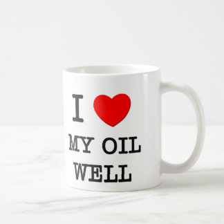 Amo mi pozo de petróleo taza clásica
