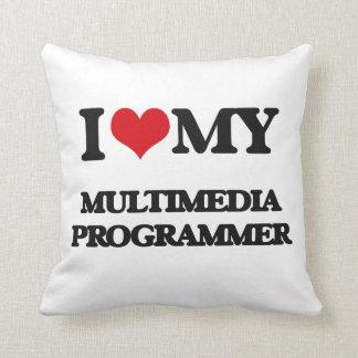 Amo mi programador de las multimedias cojines