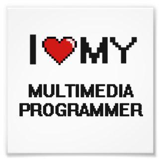 Amo mi programador de las multimedias cojinete