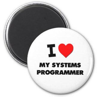 Amo mi programador imán redondo 5 cm
