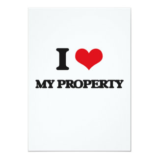 """Amo mi propiedad invitación 5"""" x 7"""""""