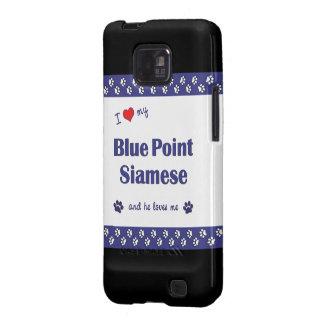 Amo mi punto azul siamés (el gato masculino) galaxy SII carcasa