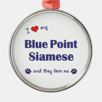 Amo mi punto azul siamés los gatos múltiples ornamentos para reyes magos