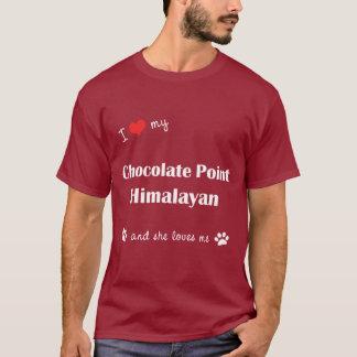 Amo mi punto del chocolate Himalayan (el gato Playera