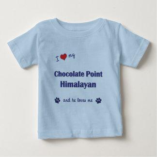 Amo mi punto del chocolate Himalayan (el gato Playera De Bebé