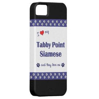 Amo mi punto del Tabby siamés los gatos múltiples iPhone 5 Coberturas