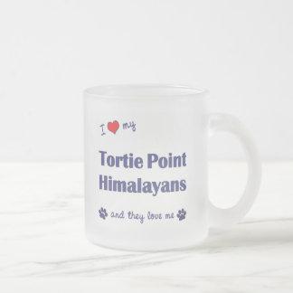 Amo mi punto Himalayans (los gatos múltiples) de Taza De Cristal