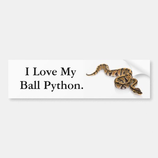 Amo mi Python. de la bola Pegatina Para Auto