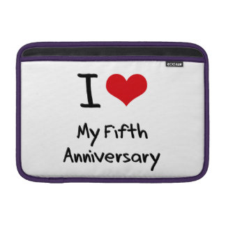 Amo mi quinto aniversario funda para macbook air