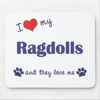 Amo mi Ragdolls (los gatos múltiples) Mousepads