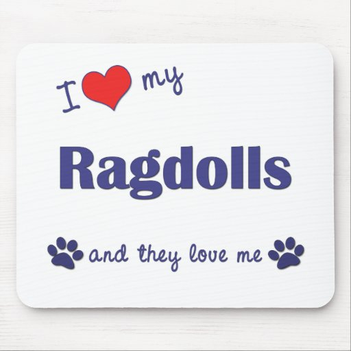 Amo mi Ragdolls (los gatos múltiples) Tapetes De Raton