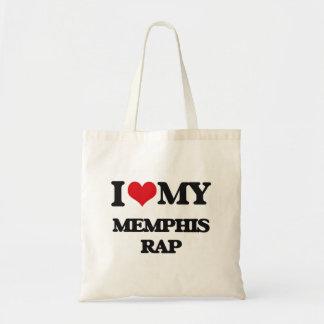 Amo mi RAP de MEMPHIS Bolsa De Mano