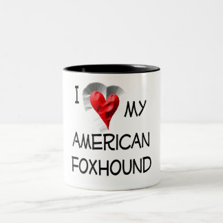 Amo mi raposero americano taza
