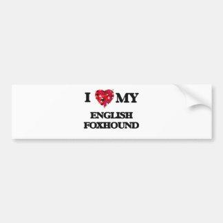 Amo mi raposero inglés pegatina para auto