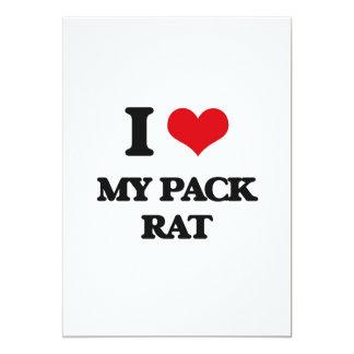 """Amo mi rata de paquete invitación 5"""" x 7"""""""