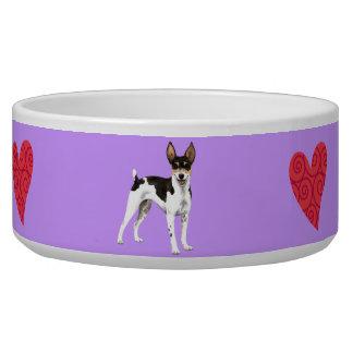 Amo mi rata Terrier Tazón Para Perro