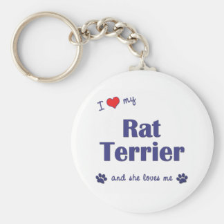 Amo mi rata Terrier (el perro femenino) Llaveros