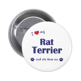 Amo mi rata Terrier (el perro femenino) Pin