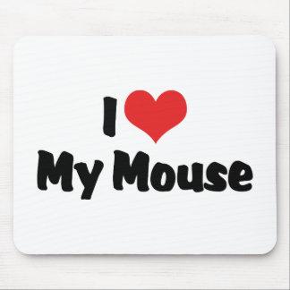 Amo mi ratón alfombrillas de ratón