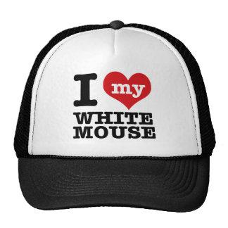 Amo mi ratón blanco gorro
