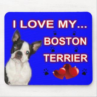 """Amo mi Ratón-cojín 9,25"""" de Boston Terrier x 7,75"""" Alfombrillas De Ratones"""
