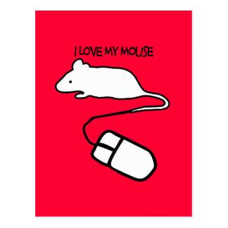 Amo mi ratón tarjetas postales