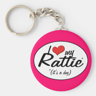 Amo mi Rattie es un perro Llaveros Personalizados