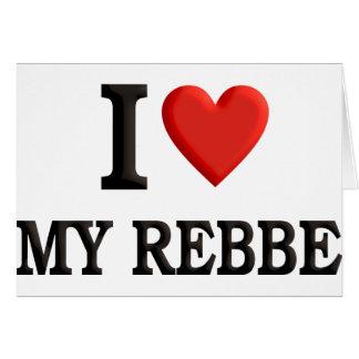 Amo mi Rebbe Tarjeta Pequeña
