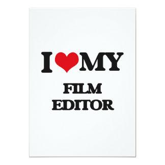 """Amo mi redactor de la película invitación 5"""" x 7"""""""