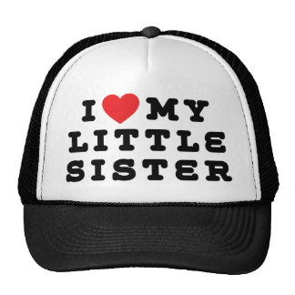 Amo mi regalo de la pequeña hermana gorro de camionero