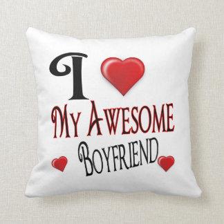 Amo mi regalo de vacaciones popular del novio cojín decorativo