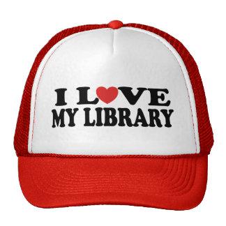 Amo mi regalo del bibliotecario de la biblioteca gorra