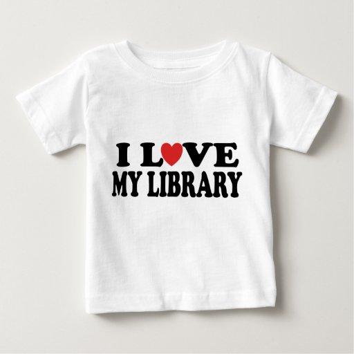 Amo mi regalo del bibliotecario de la biblioteca playera de bebé